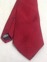 """Jones New York Necktie, 3-1/2""""x60"""", 100% Silk, Square Pattern Red - $15.99"""