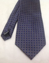 "Neo by Bill Blass Necktie, 3-7/8""x61"", 100% Silk, Square Pattern Blue - $24.99"