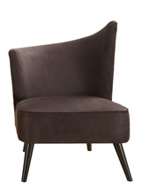 Armen Living LC2132MFBLLE Elegant Accent Chair Flaired Back Black Microfiber
