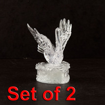 2pc Swan LED Light Up Figurine Party Home Holiday Decorations Night Ligh... - $9.49