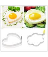 Cook Fried Egg Pancake Stainless Steel Heart St... - $1.59