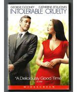 INTORERABLE CRUELTY * GEORGE CLOONEY - CATHERINE ZETA-JONES * DVD - WIDE... - $3.00