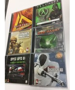 Action War Computer Games Lot Of 6 Ghost Recon Red Alert Spear Rogue - $8.67