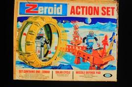 1 Ea Zeroids Action Set Ideal Toys 1968 3 Pcs Repro Box - £145.81 GBP