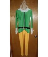 Buddy the Elf Costume Adult Christmas Halloween 2nd Skin Morphsuit BODY ... - $10.79
