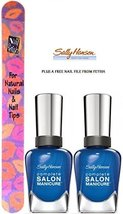 Sally Hansen Complete Salon Manicure #828 Batbano Blue (Pack Of 2) Plus A Fre... - $15.67