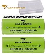 2pk VAPPOWER 3.7v Rechargeable High Drain Battery 26650 4200mAh 60A amp ... - $25.87