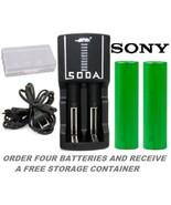 SODA Rapid Charger & VTC4 18650 2100mAh High Drain FLAT TOP 30A Battery ... - $24.97+
