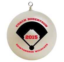 Personalized Softball Coach Christmas Ornament Gift - $16.95