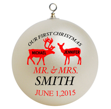 Personalized Our First Christmas Ornament Gift - $16.95