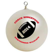 Personalized Football Coach Christmas Ornament Gift - $16.95