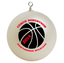 Personalized Basketball Coach Christmas Ornament Gift - $16.95