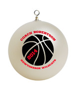 Personalized Basketball Coach Christmas Ornament Gift - $24.95