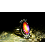 RARE IMMORTAL PHOENIX FIRE BIRD ESTATE DRAGON BREATH Ring izida haunted no Djinn - $444.00