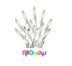 100 Clear White Christmas Wedding Mini Lights String Strand Indoor Outdo... - $8.90