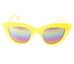 NEW QUAY Kitti Yellow Sunglasses    - £29.14 GBP