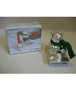 Wm A Rogers Silver Plate Panda On Sleigh Candle... - $9.95
