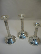 International Silver Co Silver Plate Qty 3 Flute Candle Stick Holders - $12.95
