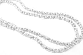 "Sterling Silver  24"" Reverse Rope Spiral Design Chain Necklace - $89.00"