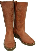 Frye Peach -Bone Floral Inlay 7 M - $149.00