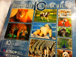 Wildlife Collection 10 Deluxe Jigsaw Puzzles 6750 Total Pieces by Sure-Lox - $39.99