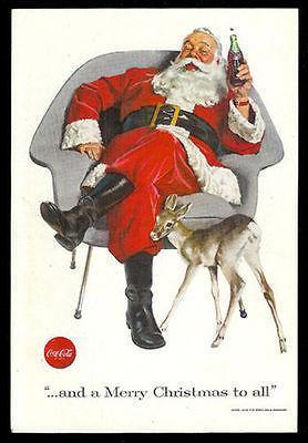 Primary image for SANTA Claus Herman Miller style Chair 1956 Eames Era COKE Soda Ad
