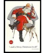 SANTA Claus Herman Miller style Chair 1956 Eames Era COKE Soda Ad - $14.99