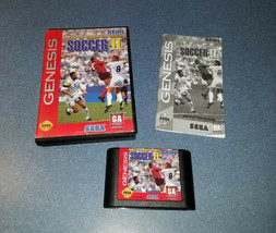World Championship Soccer II (Sega Genesis) Complete NICE Fast Shipping - $4.95