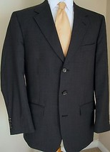 Evan Picone Blazer Wool 43L Gray Micro Plaid 3 ... - $44.99