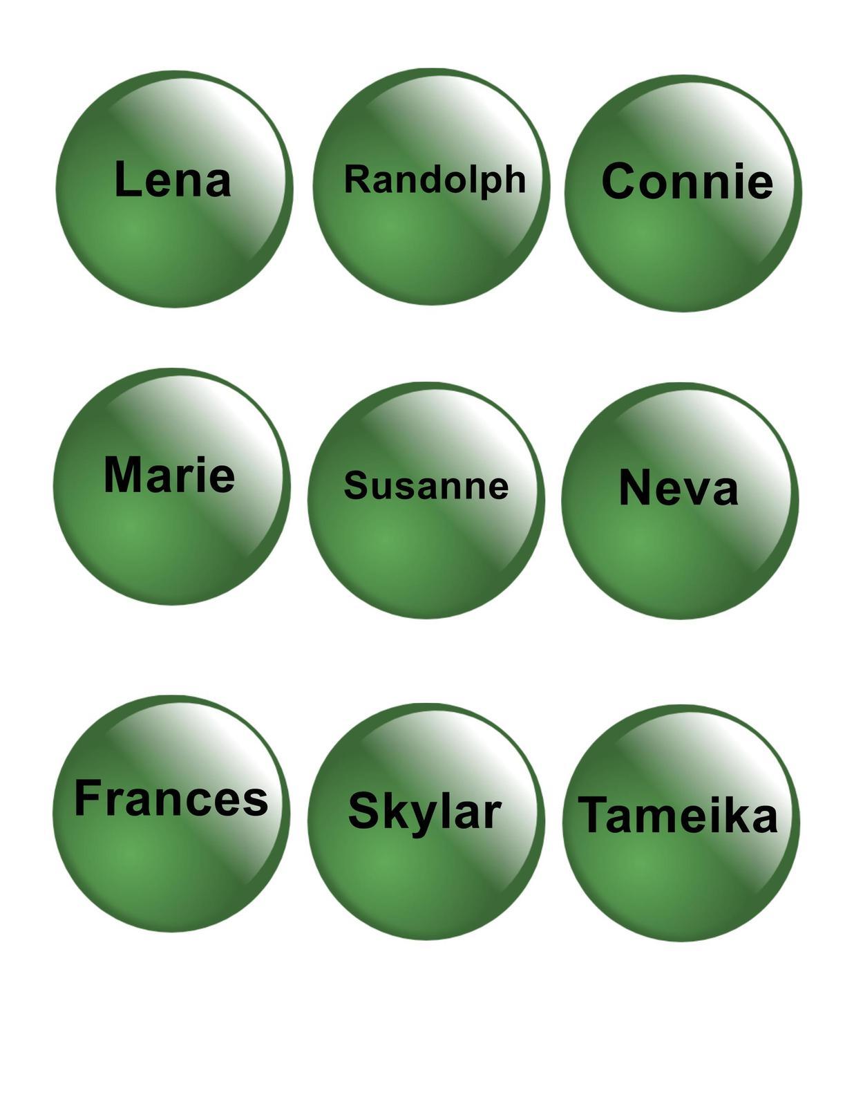 Names green glass