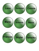 Names Green Glass-ClipArt-Digital ArtClip-Digit... - $5.00