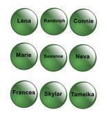Names Green Glass-ClipArt-Digital ArtClip-Digital art - $6.00
