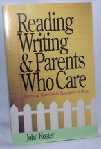 John Koster Reading Writing Parents Care Home School Student Education E... - $12.86
