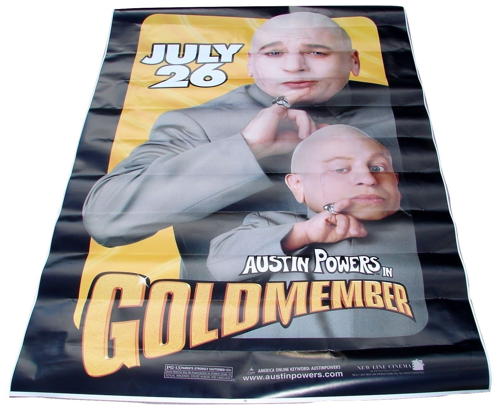 2002 AUSTIN POWERS In GOLDMEMBER Original Movie Poster Banner 48x72 (33)