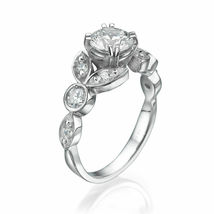 1.45 CT Bridal Round Cut Diamond Womens Engagement Ring 18K White Gold Finish - $79.99