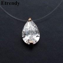 Invisible Transparent Zircon Choker Necklace Women Fashion Jewelry 2019 ... - $9.62