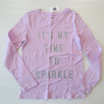 "Gap Kids 'It's My Time To Sparkle"" Graphic Lilac Shirt - S (6-7) - NWT - $7.99"