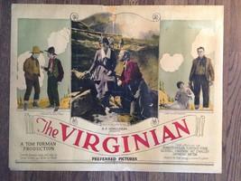 THE VIRGINIAN 1923 Half-Sheet Silent Film Western Kenneth Harlan Florenc... - $175.00