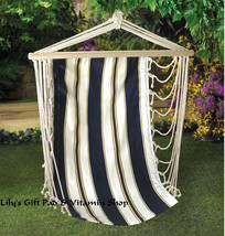 Navy Striped HANGING HAMMOCK CHAIR Garden Decor Furniture HAMMOCKS (14974) - $49.95