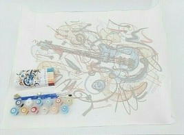 Captain Craft DIY Guitar Oil Painting Paint by Numbers Kit 16x20 Adult B... - $15.19