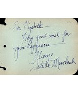 NATALIE MOORHEAD Autograph. Nicely signed. Movie actress. - $33.65