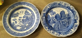 CARAMANIAN & WILLOW (2)SPODE BLUE ROOM COLLECTION TRADITIONS SERIES PLAT... - $37.95