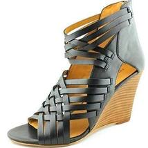 NINE WEST MEXICALI LEATHER WEDGE SANDALS - $62.00