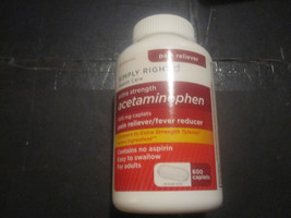 Extra Strength Acetaminophen Member's Mark 600 caplets 500mg - $9.26