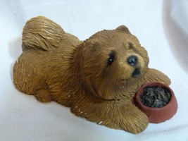 Sandicast 1994 Dog Figurine Chow Red # B21 Handcast & Handpainted - $27.98