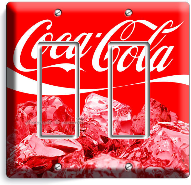 COCA-COLA ICE CUBES LIGHT SWITCH OUTLET WALL PLATE COVER KITCHEN DINING ROOM ART