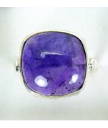 Polished Purple Square Dome Amethyst Sterling Silver 925 Ring Size 10 ss - $63.49