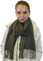 Winter or Fall Cold Weather Solid Color Long Stylish Fashion Scarf, Grey - £5.13 GBP