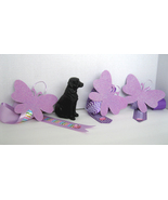 Butterfly Hair Clip Accessory Holder - Purple:  Handmade - $5.00