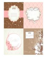 Set of Cute Floral Frames 2-ClipArt-Digital ArtClip-Digital art-frame - $4.00